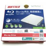 BUFFALOの外付けBDドライブ BRXL-PT6U3-WHC レビュー